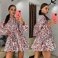 Великолепное мини платье выполнено из шелкового креп-сатина Пышная юбка уравновесит верх и бёдра, для созд
