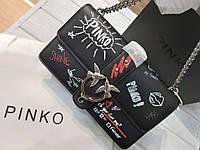 Сумка Pinko Simply Love Graffiti medium черная, фото 1