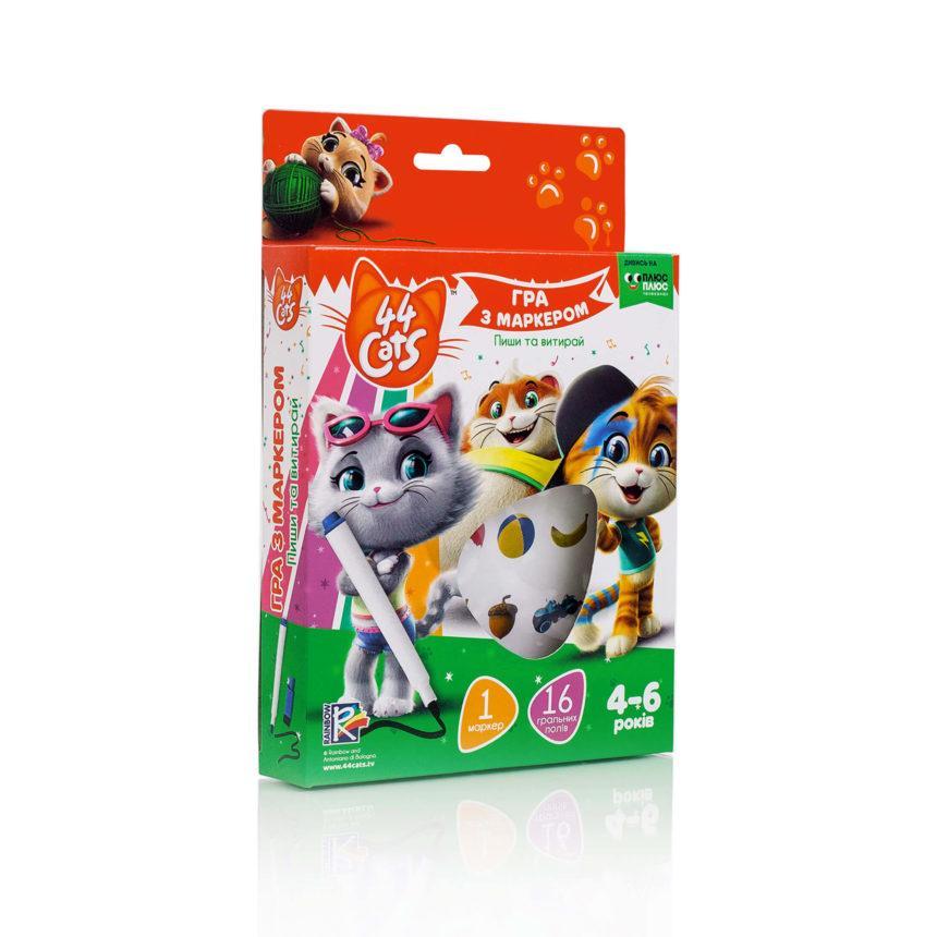 Развивающая игра с маркером .44 Коти. 4-6 років., , VT5010-16 (укр.), Vladi Toys