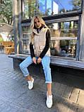 Теплая женская жилетка с карманами 13-327, фото 5