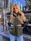 Теплая женская жилетка с карманами 13-327, фото 2
