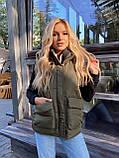 Теплая женская жилетка с карманами 13-327, фото 8