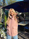 Теплая женская жилетка с карманами 13-327, фото 3
