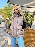 Теплая женская жилетка с карманами 13-327, фото 9