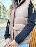Теплая женская жилетка с карманами 13-327, фото 6
