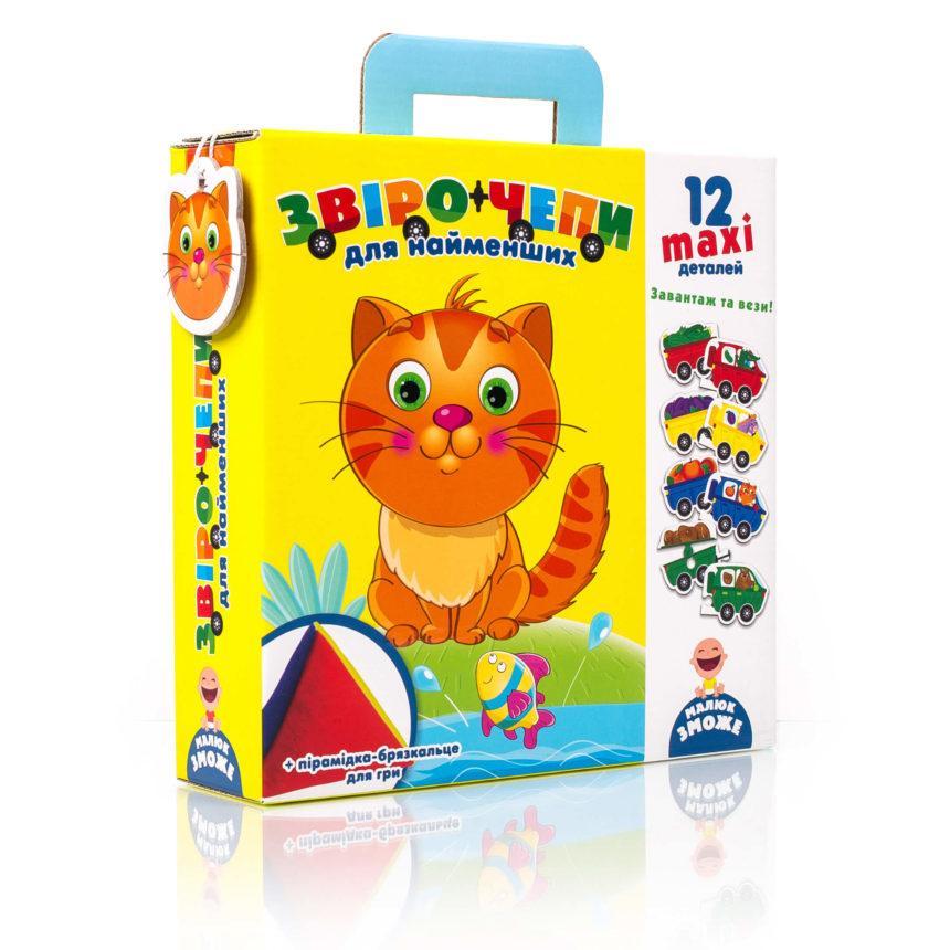 """Гра з м'якою пірамідкою """"Звірочепи"""" для найменших VT2906-01, Vladi Toys"""