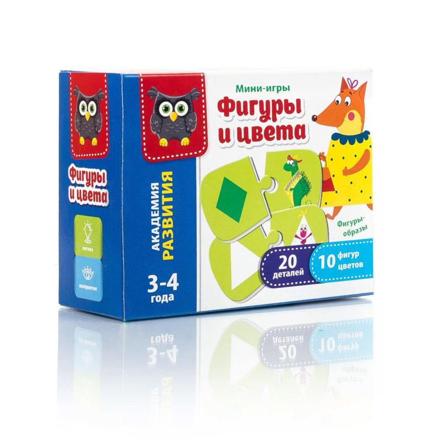 """Мини-игра """"Фигуры и цвета"""" VT5111-04, Vladi Toys"""
