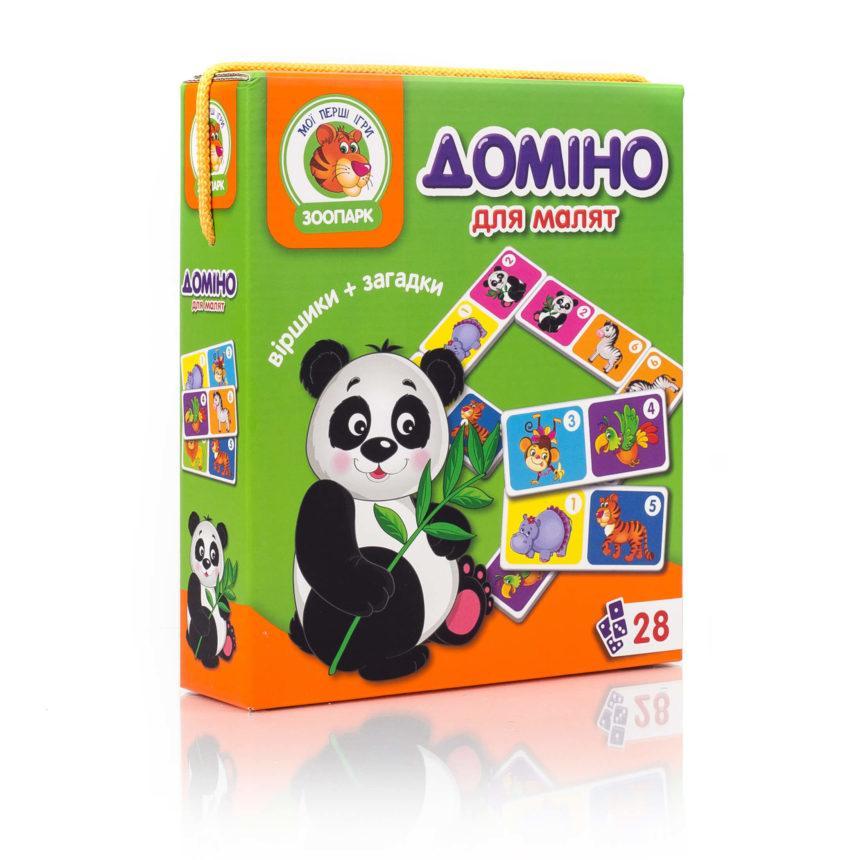 """Настільна гра. Доміно """"Зоопарк"""" VT2100-04, Vladi Toys"""