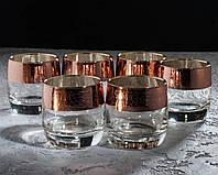 Набор стаканов Кракелюр рубин для виски 310 мл, 6 шт.