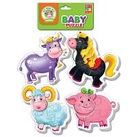 Пазлы мягкие для малышей.Ферма., VT1106-51, Vladi Toys