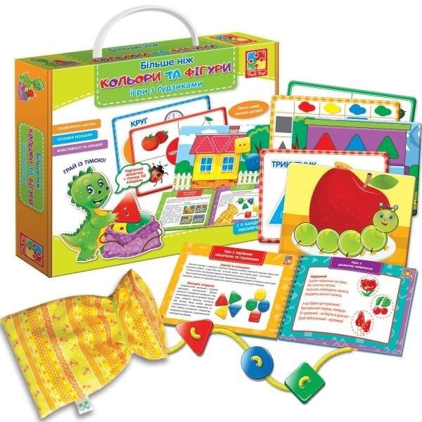 Развивающая игра с пуговицами. Більше ніж Кольори та Фігури., VT2801-20, Vladi Toys