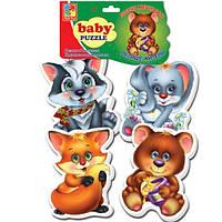 Пазлы мягкие для малышей .Лесные жители., VT1106-09, Vladi Toys