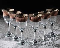 Набор фужеров Кракелюр рубин для вина 240 мл, 6 шт.