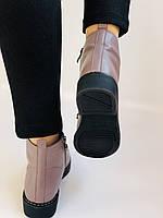 Жіночі черевики. На середньому каблуці. Натуральна шкіра.Висока якість. Erisses. Р. 35-40.Vellena, фото 7