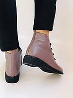 Жіночі черевики. На середньому каблуці. Натуральна шкіра.Висока якість. Erisses. Р. 35-40.Vellena, фото 8