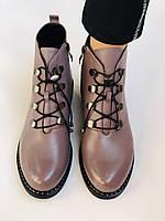 Жіночі черевики. На середньому каблуці. Натуральна шкіра.Висока якість. Erisses. Р. 35-40.Vellena, фото 10