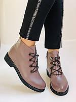 Жіночі черевики. На середньому каблуці. Натуральна шкіра.Висока якість. Erisses. Р. 35-40.Vellena, фото 3