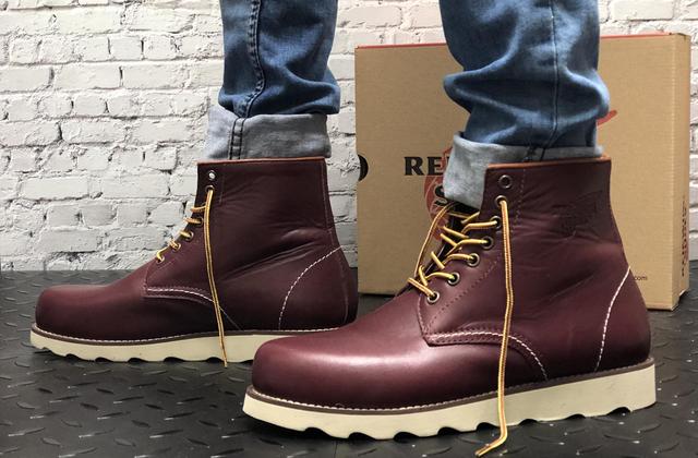 шкіряні черевики Red Wing USA бордові 8424890 на нозі