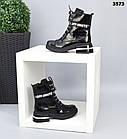 Зимние женские черные ботинки, натуральная лакированная кожа, фото 6