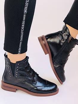 Высокое качество. Женские осенние ботинки Челси. На низкой подошве. Натуральная кожа. Polann. Р. 37.38.