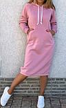 Теплое платье с капюшоном 26-823, фото 2