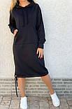 Теплое платье с капюшоном 26-823, фото 3