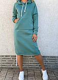 Теплое платье с капюшоном 26-823, фото 5