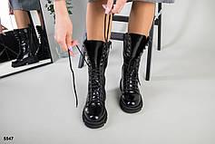 Женские кожаные зимние ботинки наплак, р.36-41, фото 3