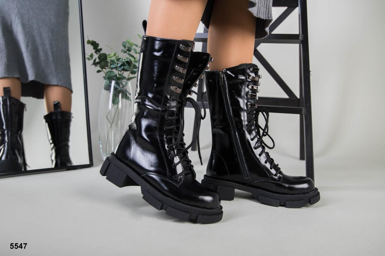 Женские кожаные зимние ботинки наплак, р.36-41