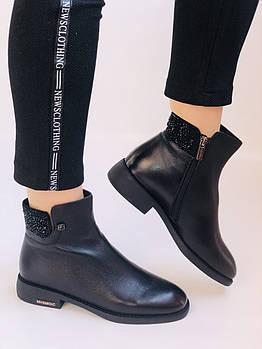 Erisses. Женские ботинки. На маленьком каблуке. Натуральная кожа. Высокое качество.   Р. 36,37,39. Vellena