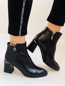 Женские ботинки. На среднем каблуке. Натуральная кожа.Высокое качество. Nadi Bella. Р. 35-40.Vellena