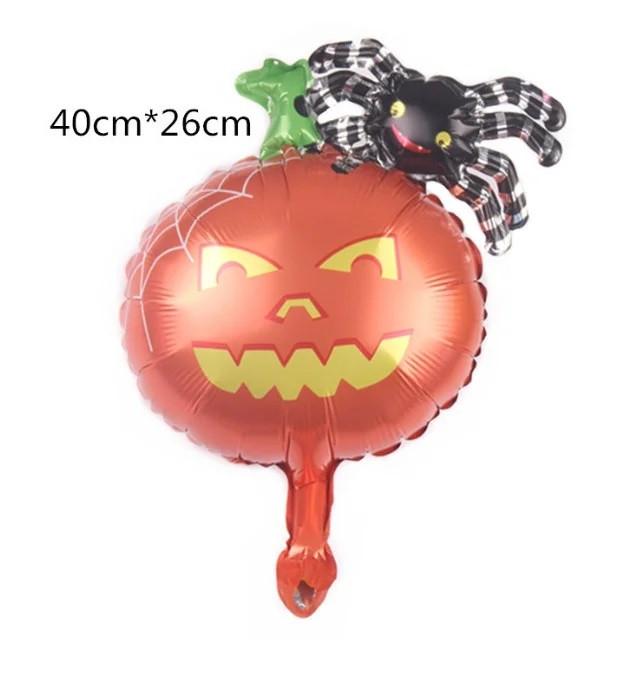 Фольгированный мини-шар Паук на тыкве 40*26 см