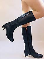 Женские осенне-весенние сапоги на среднем каблуке. Натуральная кожа. Люкс качество. Polann Р .37, 38, фото 7