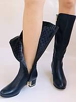 Женские осенне-весенние сапоги на среднем каблуке. Натуральная кожа. Люкс качество. Polann Р .37, 38, фото 10