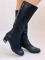 Женские осенне-весенние сапоги на среднем каблуке. Натуральная кожа. Люкс качество. Polann Р .37, 38, фото 5