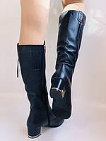 Женские осенне-весенние сапоги на среднем каблуке. Натуральная кожа. Люкс качество. Polann Р .37, 38, фото 2