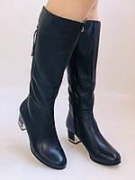 Женские осенне-весенние сапоги на среднем каблуке. Натуральная кожа. Люкс качество. Polann Р .37, 38, фото 9