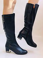 Женские осенне-весенние сапоги на среднем каблуке. Натуральная кожа. Люкс качество. Polann Р .37, 38, фото 6