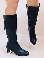 Женские осенне-весенние сапоги на среднем каблуке. Натуральная кожа. Люкс качество. Polann Р .37, 38, фото 4