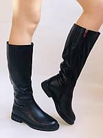 Molka. Натуральне хутро.Зимові чоботи на низькому каблуці. Натуральна шкіра. Р. 36-40., фото 3