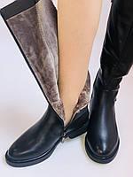 Molka. Натуральне хутро.Зимові чоботи на низькому каблуці. Натуральна шкіра. Р. 36-40., фото 7