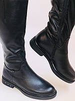 Molka. Натуральне хутро.Зимові чоботи на низькому каблуці. Натуральна шкіра. Р. 36-40., фото 8