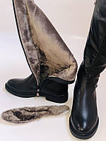Molka. Натуральне хутро.Зимові чоботи на низькому каблуці. Натуральна шкіра. Р. 36-40., фото 10