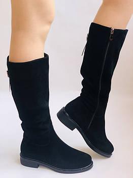 Molka. Натуральный мех.Зимние сапоги на среднем каблуке. Натуральный замш. Люкс качество.Р. 36. 37.39. 40.