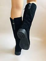 Molka. Натуральне хутро.Зимові чоботи на середньому каблуці. Натуральний замш. Люкс якість.Р. 36. 37.39. 40., фото 4