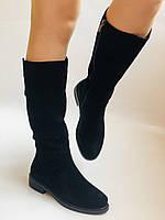 Molka. Натуральне хутро.Зимові чоботи на середньому каблуці. Натуральний замш. Люкс якість.Р. 36. 37.39. 40., фото 5