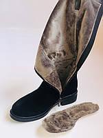 Molka. Натуральне хутро.Зимові чоботи на середньому каблуці. Натуральний замш. Люкс якість.Р. 36. 37.39. 40., фото 10