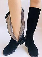 Molka. Натуральне хутро.Зимові чоботи на середньому каблуці. Натуральний замш. Люкс якість.Р. 36. 37.39. 40., фото 9