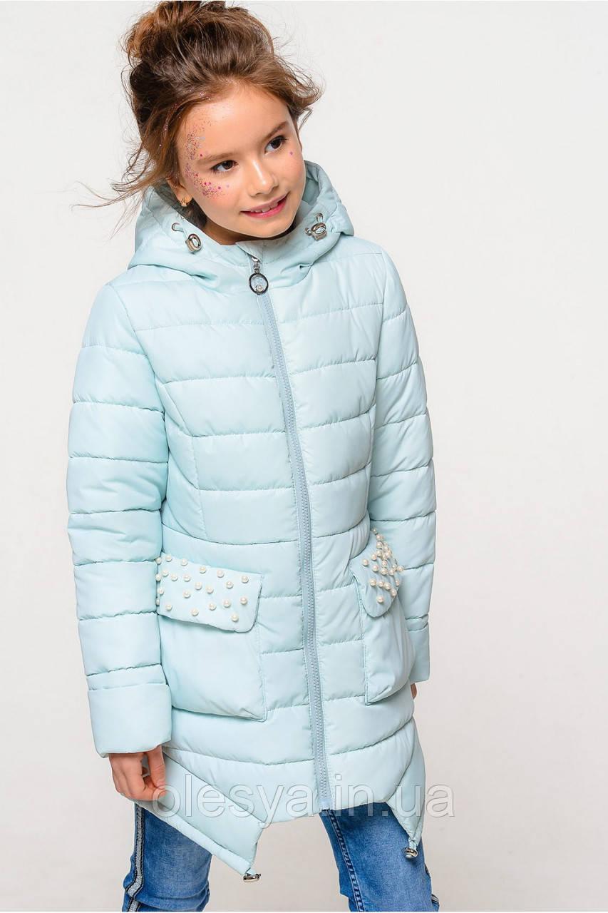 Детская осенняя удлиненная куртка Джейд NUI VERY (нью вери)  Размеры 110- 140