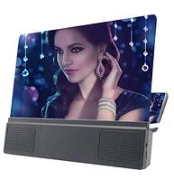 Подставка-увеличитель экрана телефона с колонками Seuno L5 держатель с динамиком 3D Zoom
